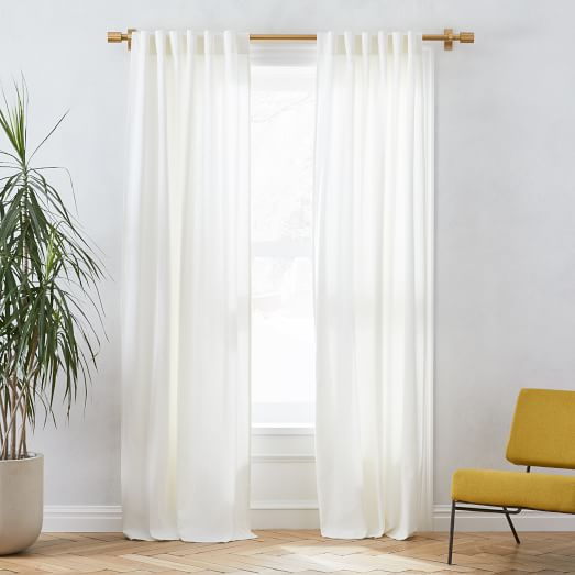 folded curtains
